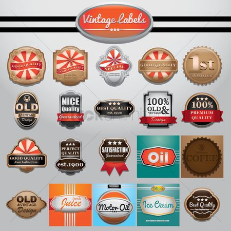 Ribbon : Vintage labels collection
