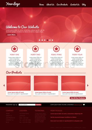 Star : Website template design