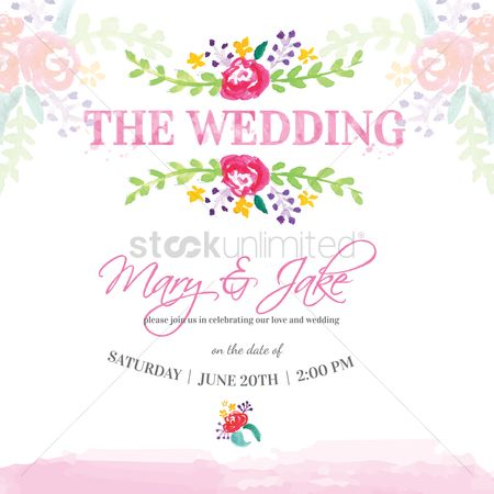 Celebration : Wedding invitation