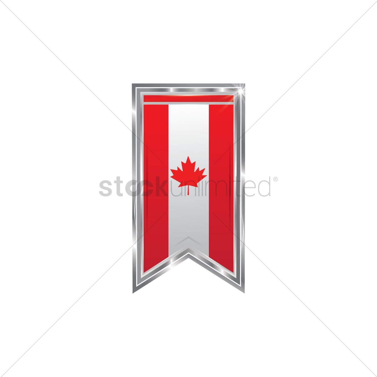 canada flag banner design vector image  1974082  stockunlimited