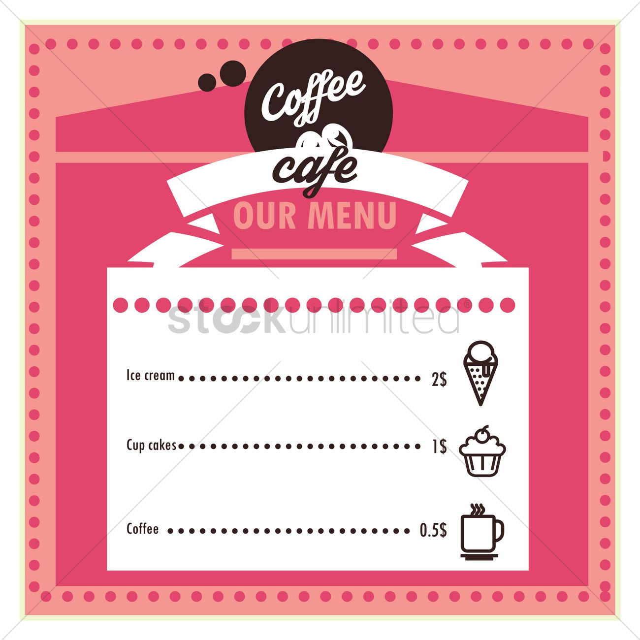 coffee cafe menu card design vector image - 1798358 | stockunlimited