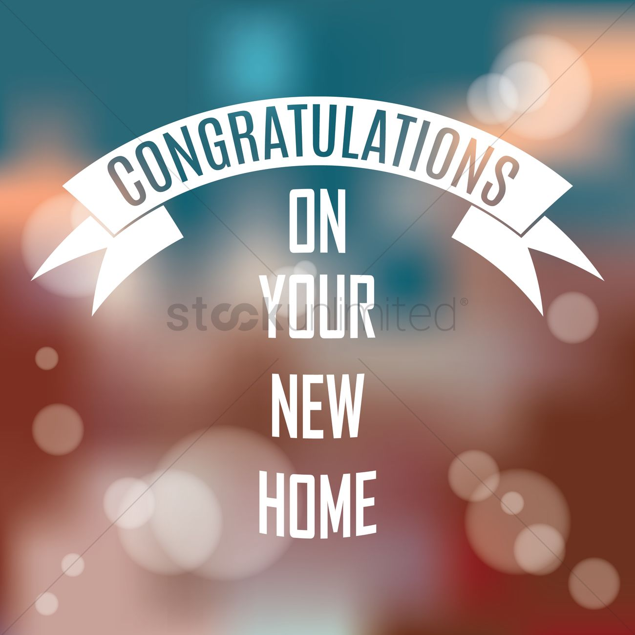 Congratulations on your new home vector image 1827438 for New home images