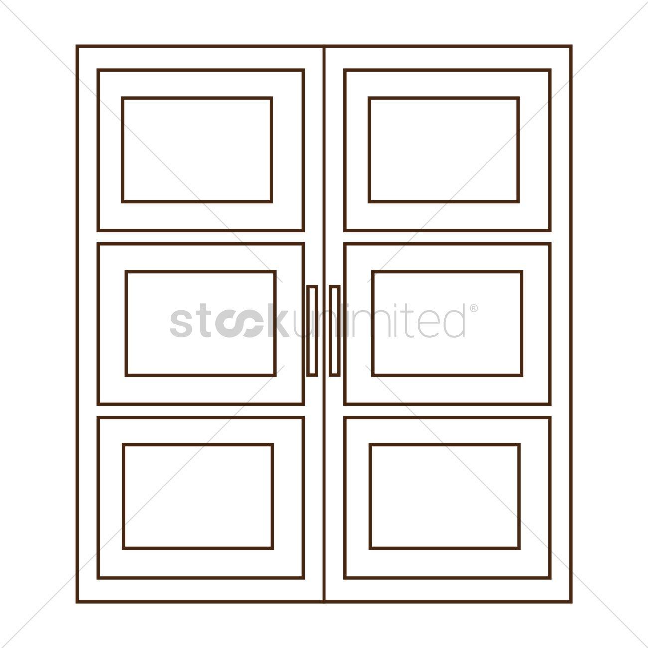 Double door clipart - Double Door Vector Graphic