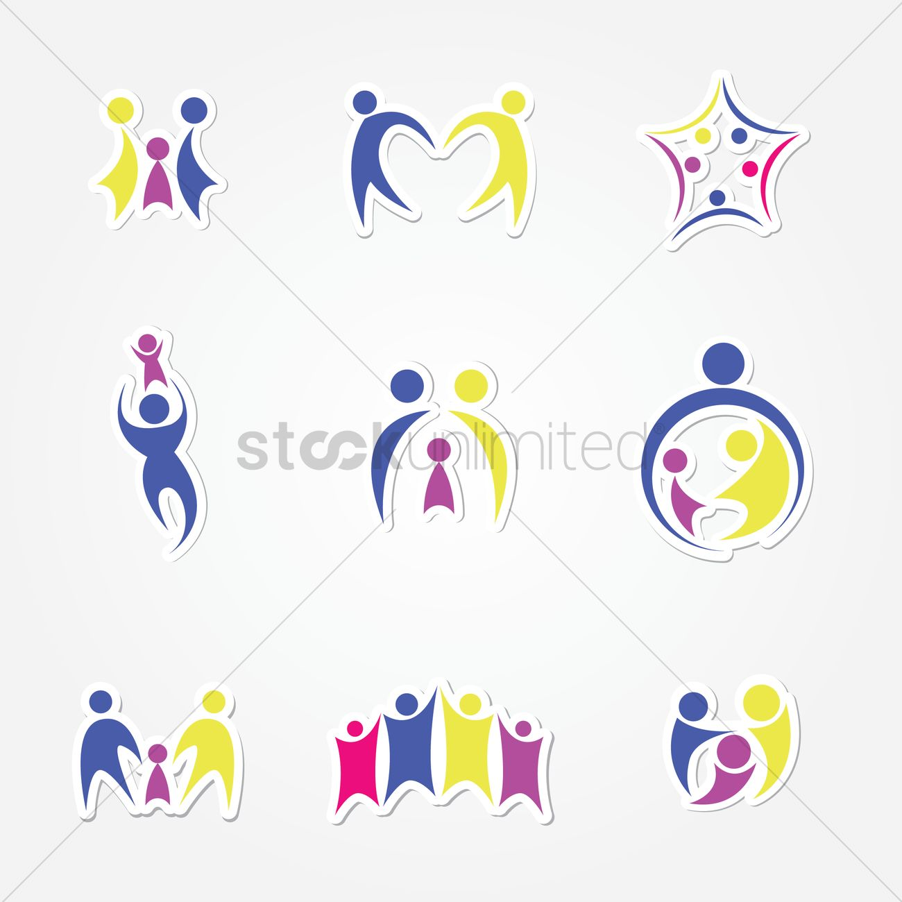 Family logo Vector Image - 1243730 | StockUnlimited