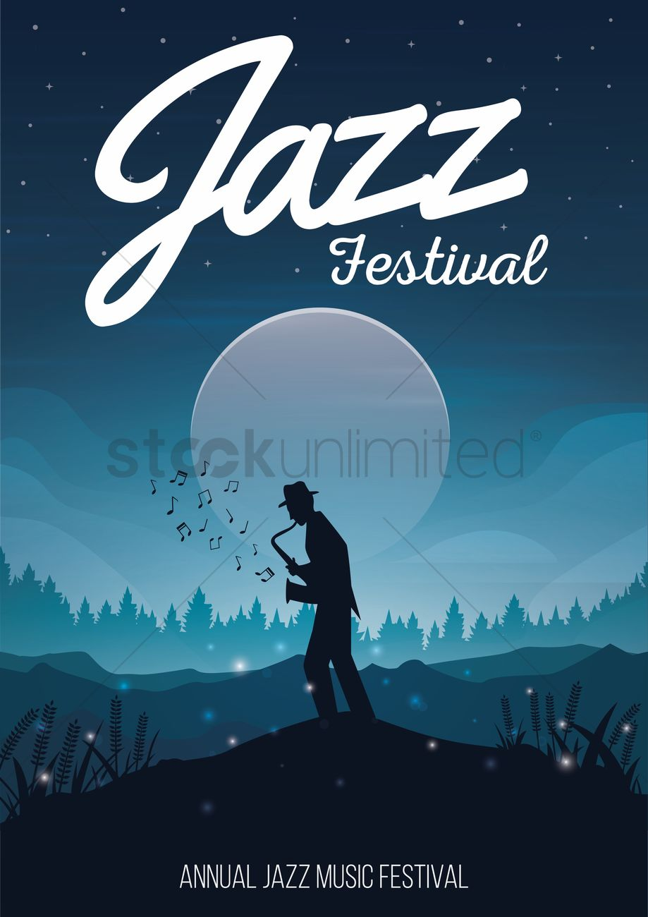 Poster design vector graphics - Jazz Festival Poster Design Vector Graphic