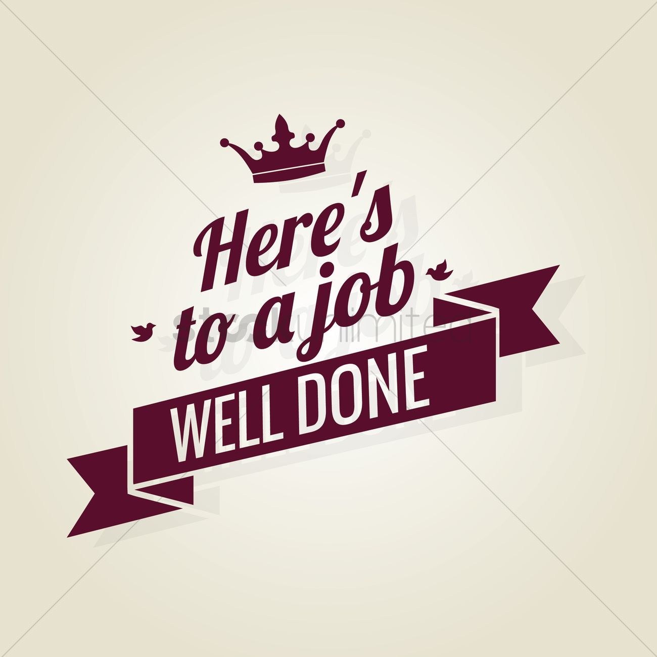 Free Job Well Done Ribbon Vector Image 1603666