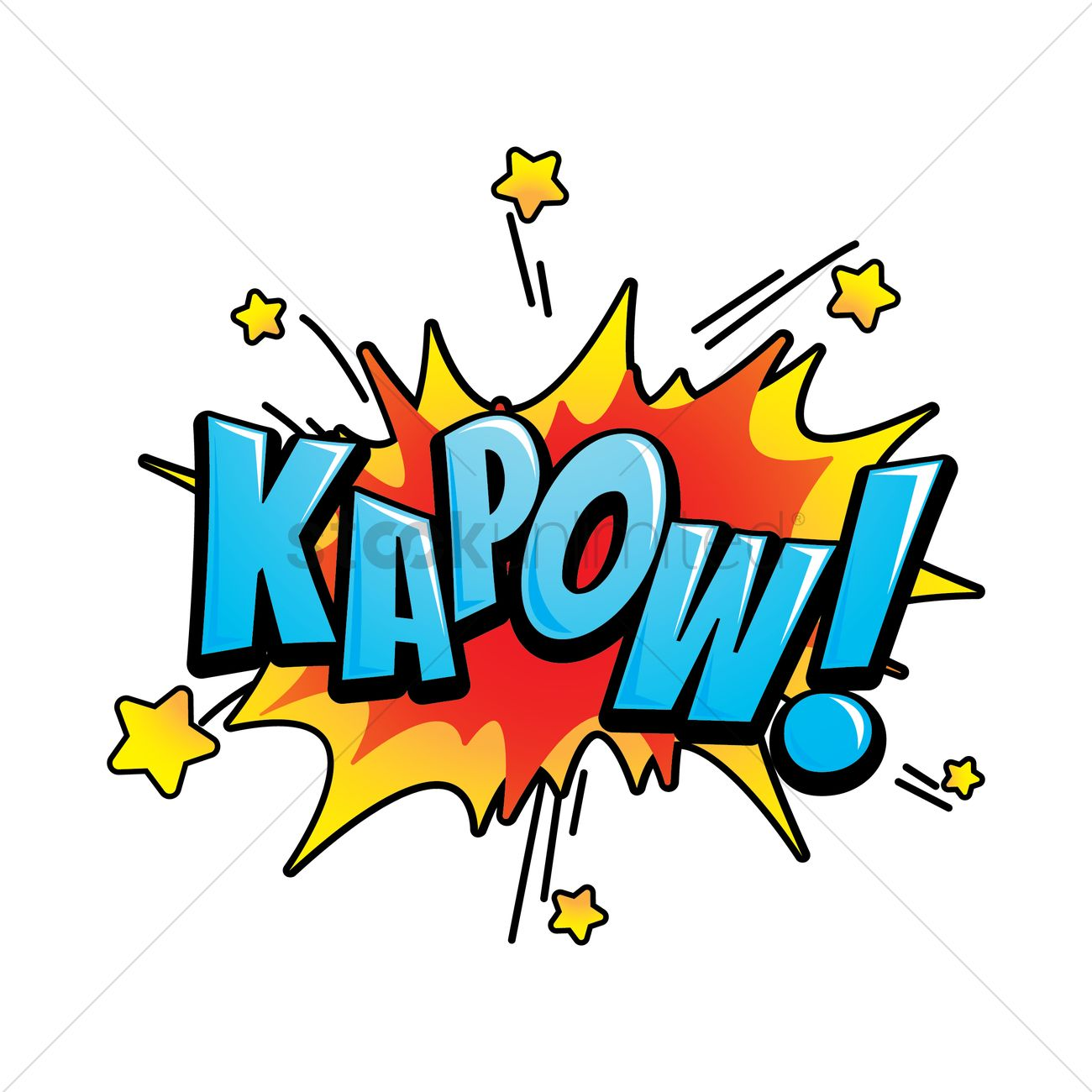 Kapow Text With Comic Effect Vector Image 1813926