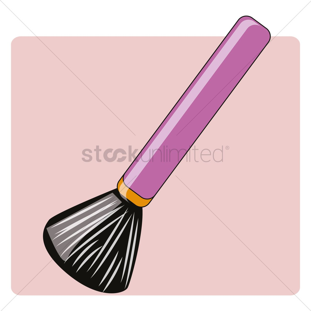 Makeup brush clipart