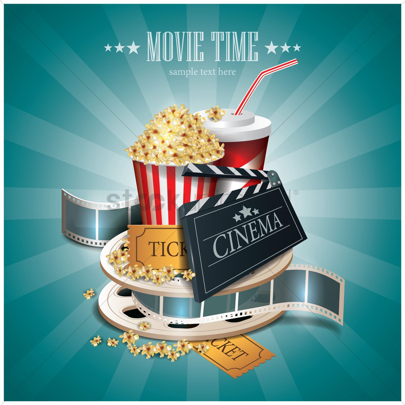 MOVIE TIME - Buy this stock vector and explore similar