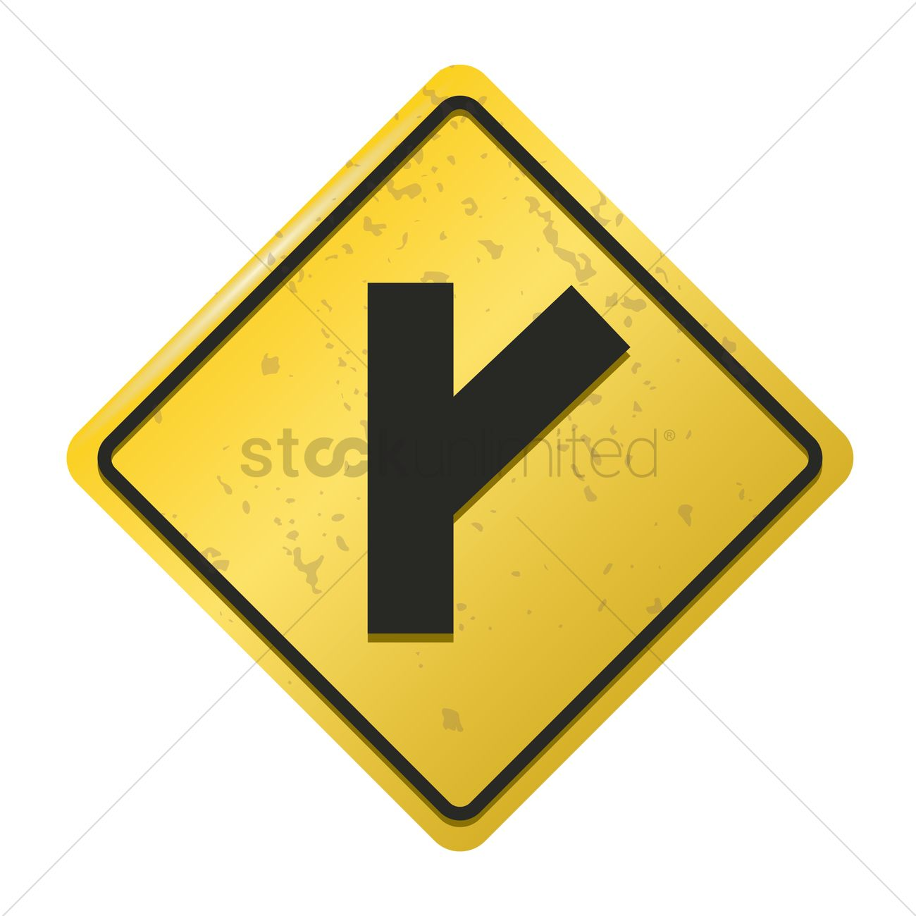 Right y intersection road sign Vector Image - 1572274 ... Y Intersection Sign