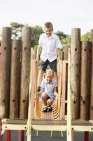 Boy and girl in playground