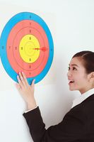 Businesswoman on target