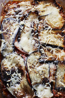Cheese baked aubergine
