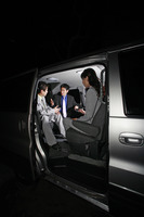 Corporate people having discussion in the car