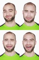 Different faces of a man