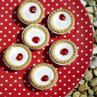 Elevated view of bakewell tarts