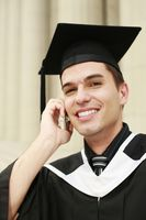 Graduate talking on the phone