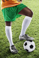 Ivory coast soccer player ready for kick off