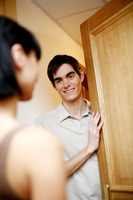 Man opening the door for his wife