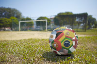National flags on a soccer ball