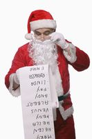 Santa claus reading checklist