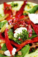 Sundried tomatoes and red pepper salad