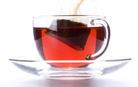 Teabag in a cup of tea