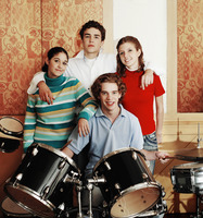 Teenagers in a musical band