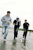 Three boys running
