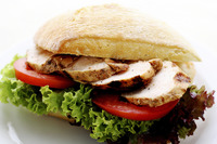 Turkey salad ciabatta