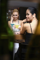 Women drinking at a bar
