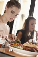Women having lunch at restaurant