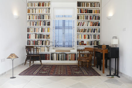 Interior : Cyprus library of restored mediterranean town house