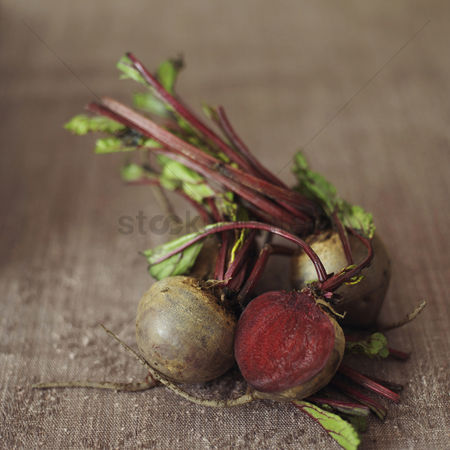 Food : High angle close up of some beetroot