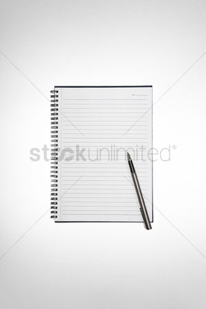 School : Note book and pen
