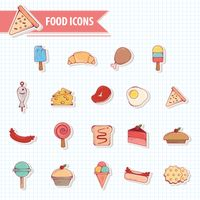 A collection of food icons