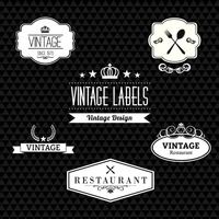 A collection of vintage labels