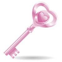 Popular : A key with a heart shape