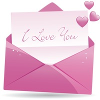 Popular : A letter with the words i love you