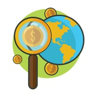 A magnifying glass search for the dollar