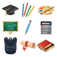 A set of back to school items