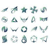 Abstract logo elements set