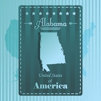 Alabama state map label