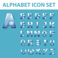 Alphabet icon set