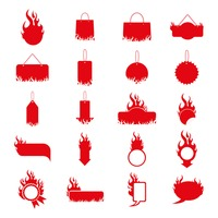 Assorted fire icons