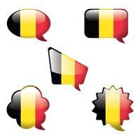Popular : Belgium flag chat bubble collection
