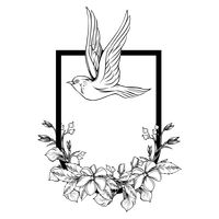 Bird and floral design