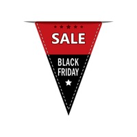 Popular : Black friday sale pennant