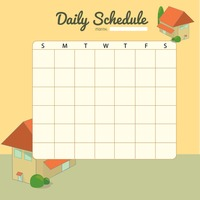Blank Daily Planner Template Design  Blank Daily Planner Template