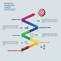 Business marketing target infographics